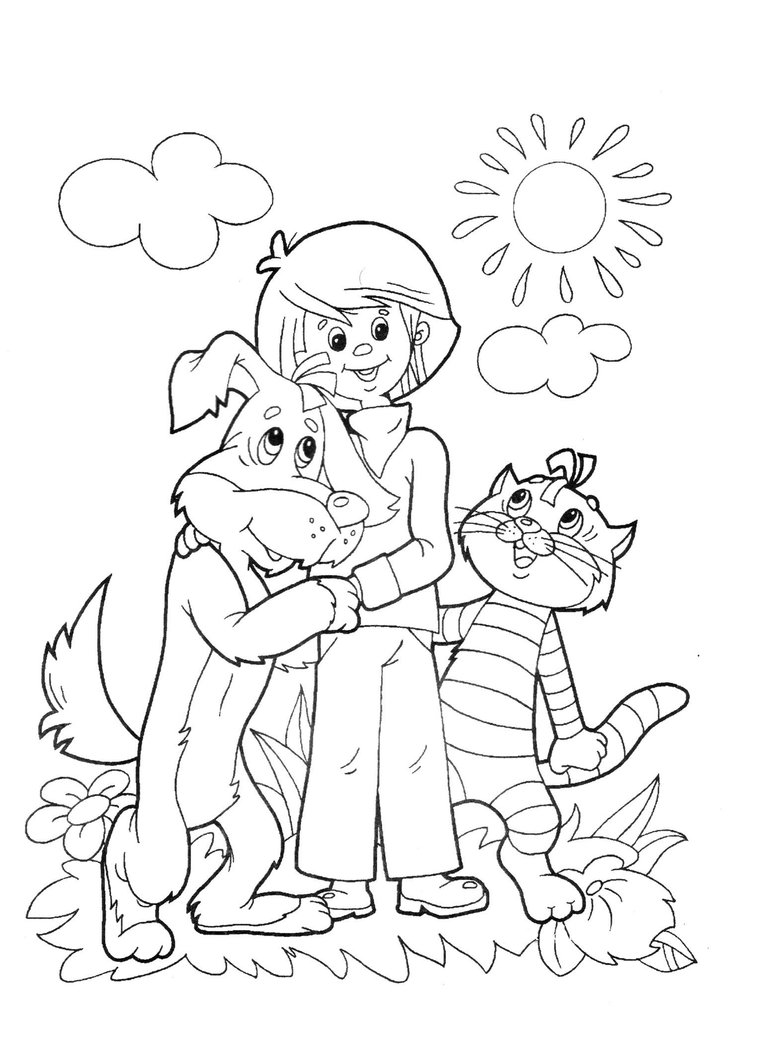 free printable friendship coloring pages - photo#43