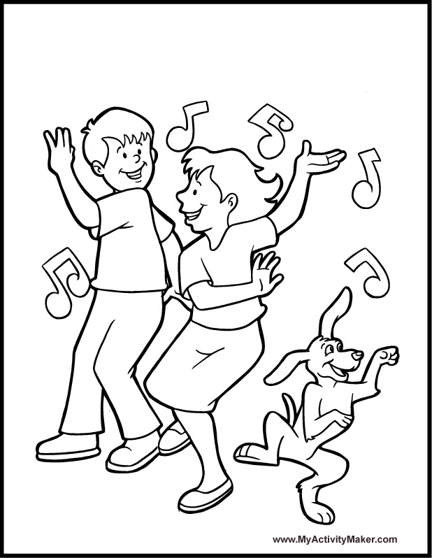 free printable coloring pages dancers - photo#7