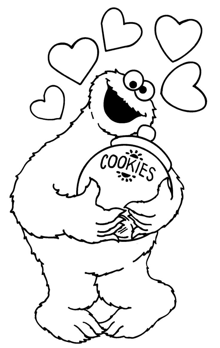 Cookie monster coloring pages to