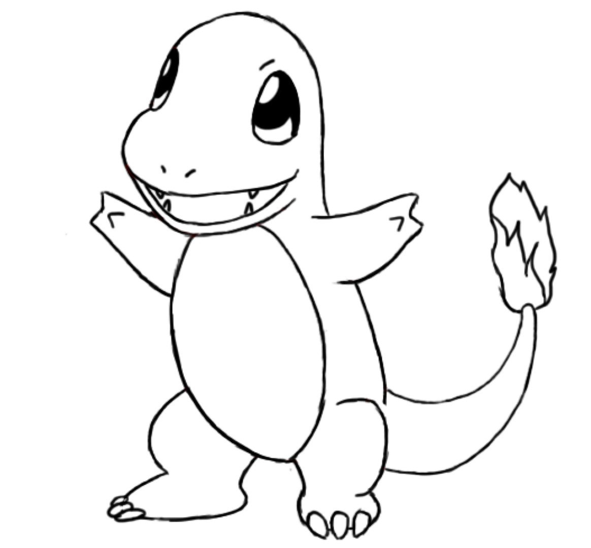Charmander coloring pages to download and print for free for Drawing websites that you can draw on