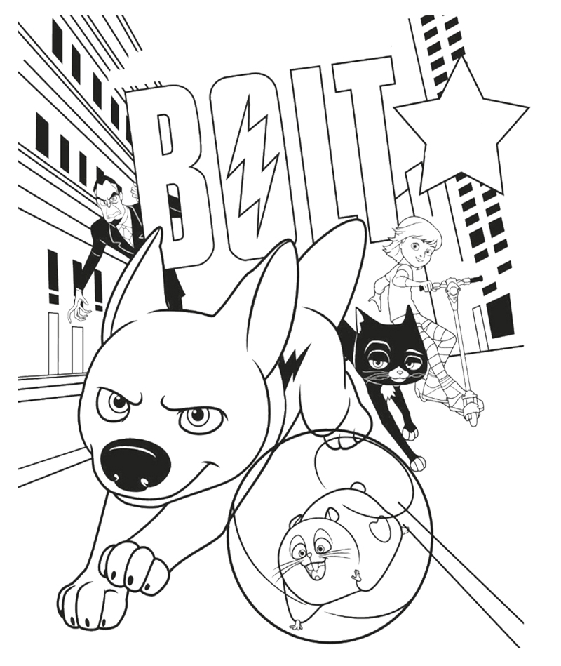 Bolt coloring pages to download and print for free