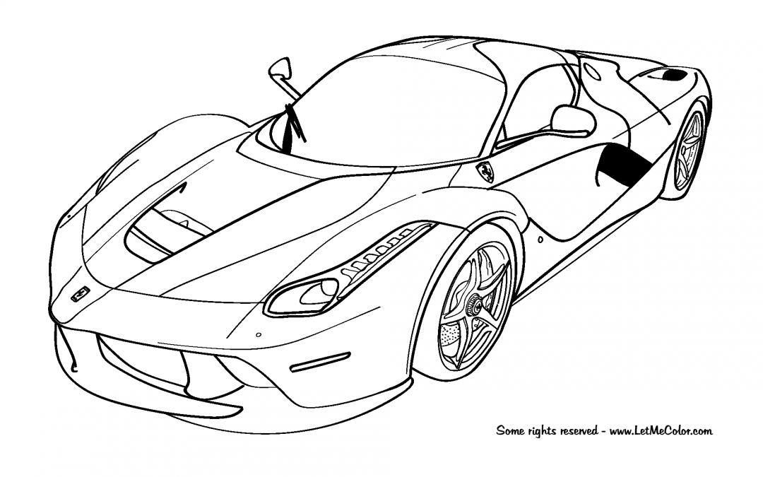 coloring pages of ferrari ferrari coloring pages to download and print for free