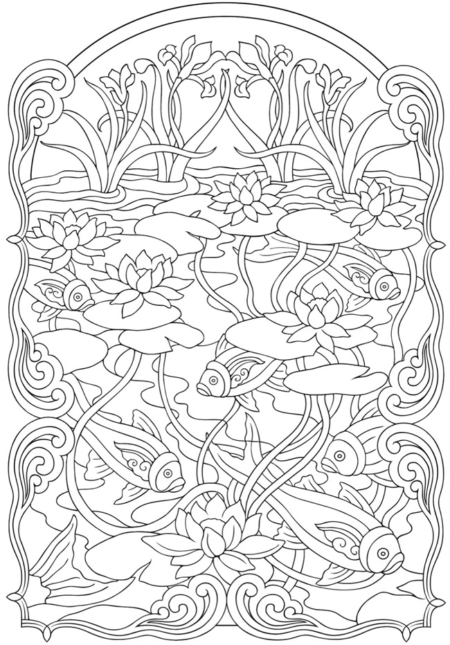 Coloring Pages Art : Art nouveau coloring pages to download and print for free