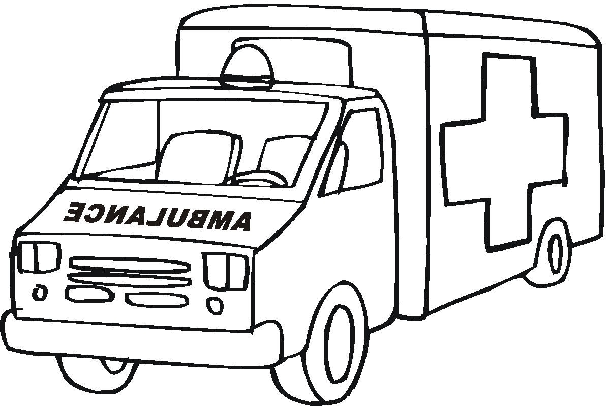 ambulance coloring pages to and print for free