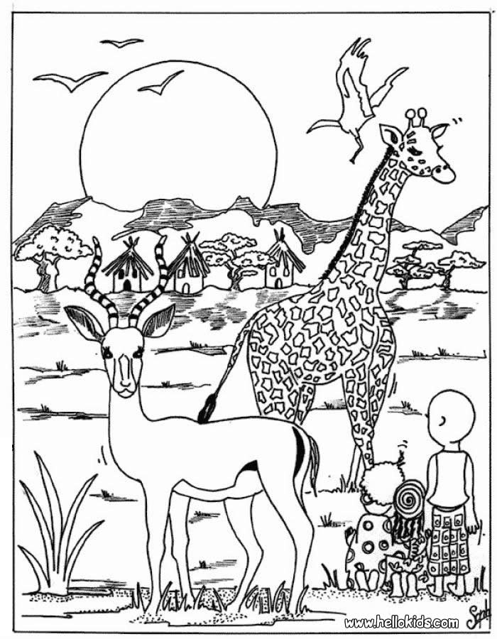 Africa Coloring WorksheetsColoringPrintable Coloring Pages Free
