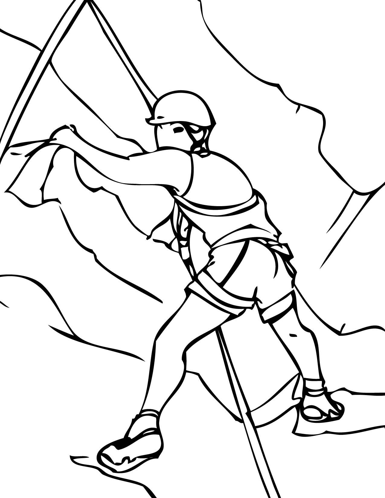 kleurplaat berg beklimmen kidkleurplaat nl