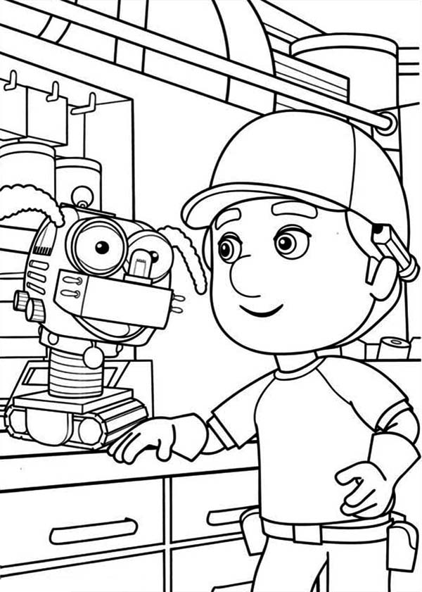 Little robots coloring pages download