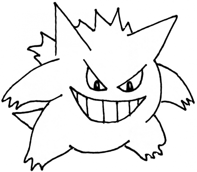 Gengar Coloring Pages Download And Print For Free