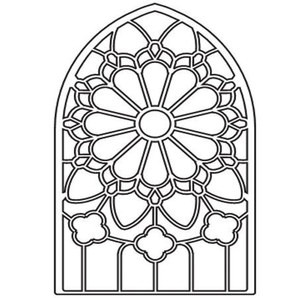 Adult Beauty Stained Glass Window Coloring Page Images best stained glass window coloring pages download and print for free images