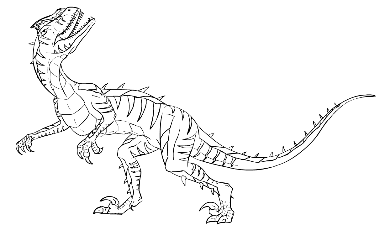 dinosaurus utah raptor coloring pages - photo#4
