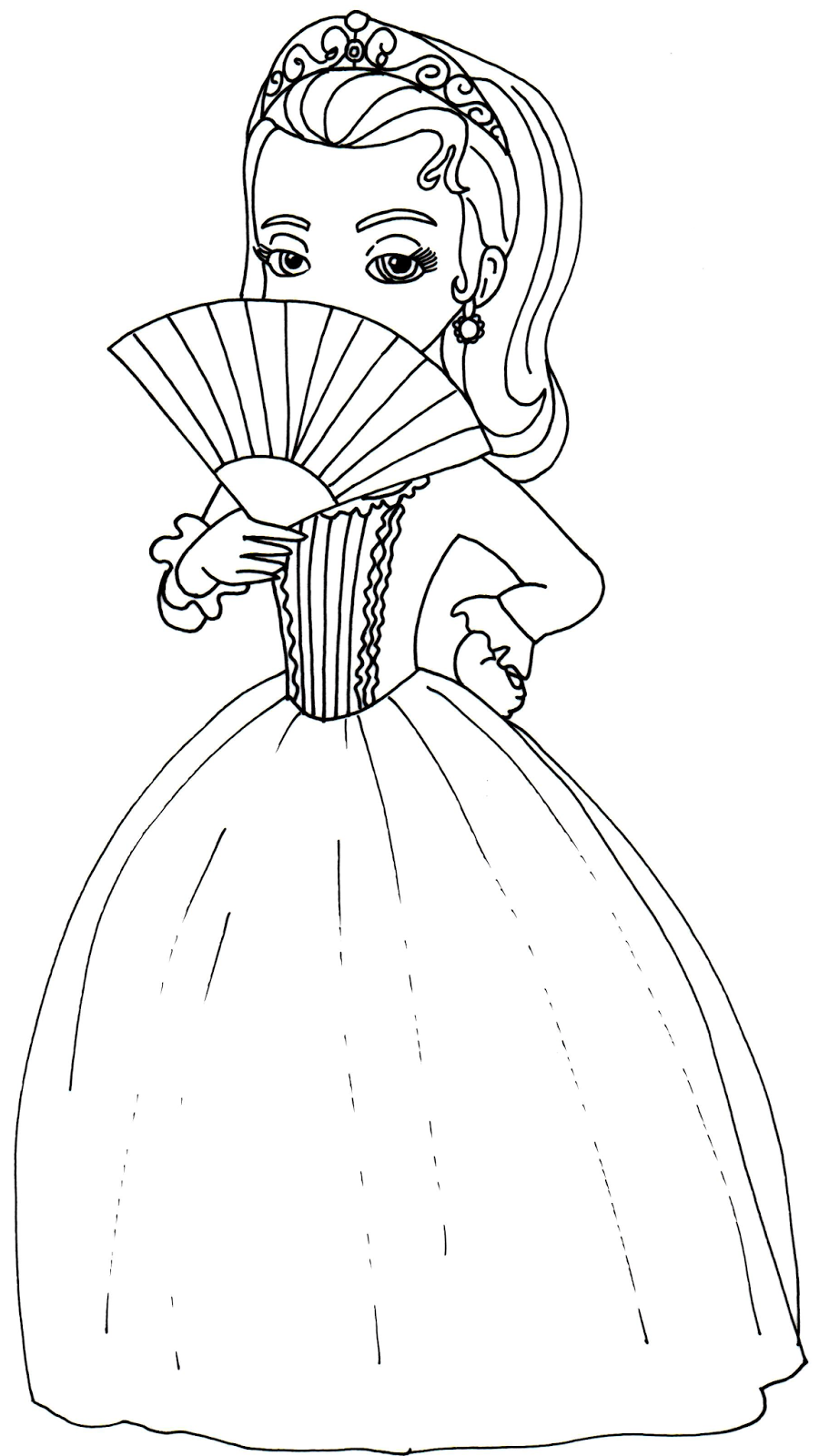 Princess amber coloring pages download