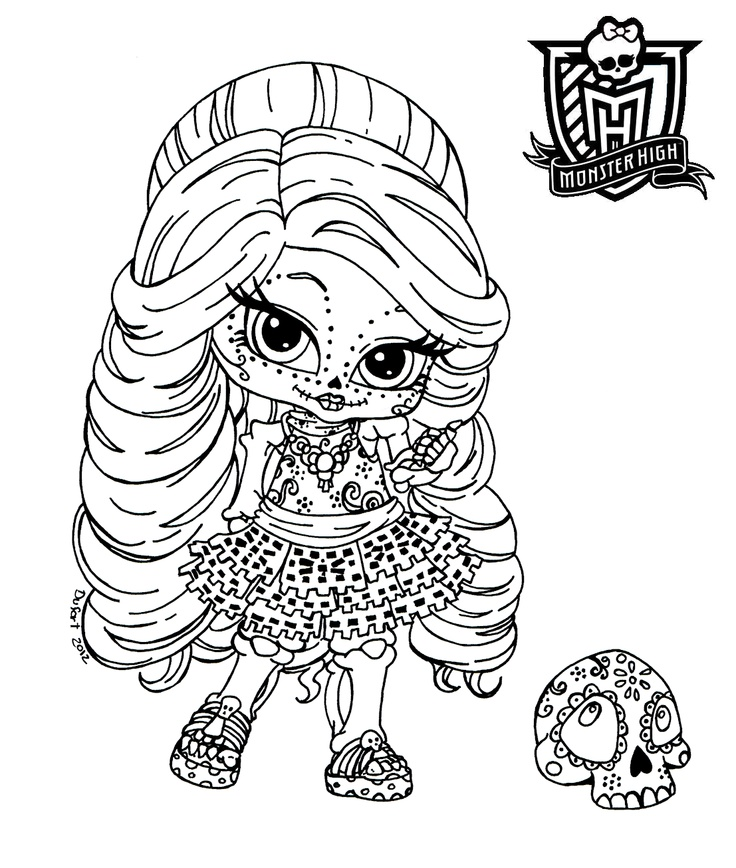 Chibi monster high coloring pages download and print for free - Coloriage monster high baby ...