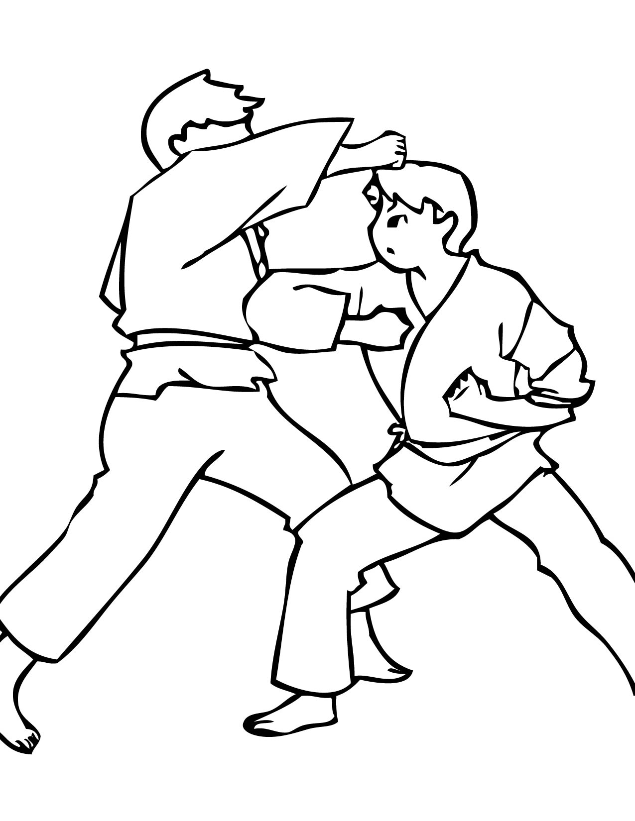 Free coloring pages karate - Free Coloring Pages Karate 2