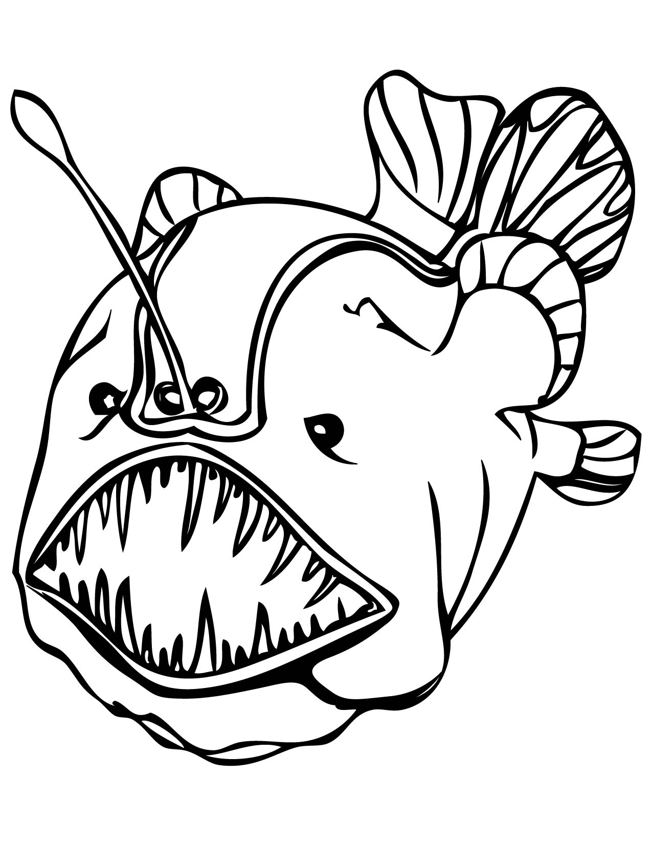 Sea fish coloring pages download and print for free for Printable fish coloring pages