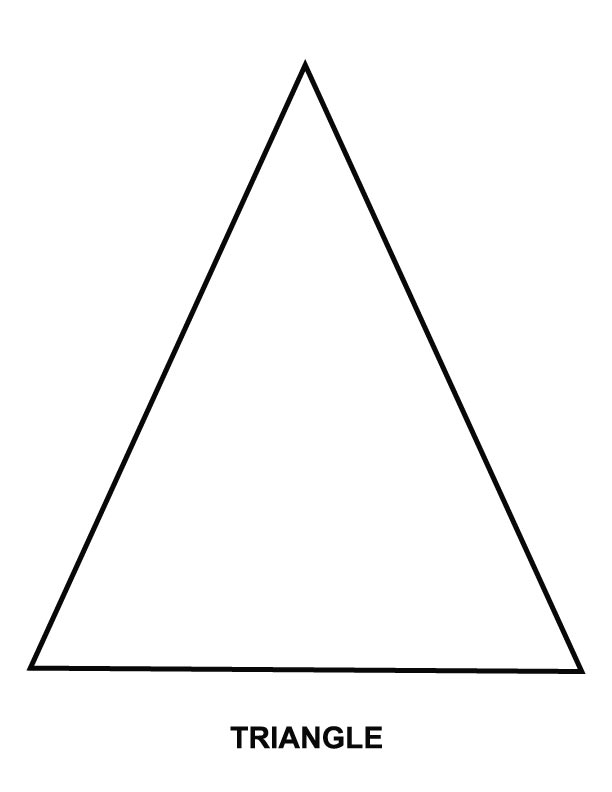triangles coloring pages download and print for free - Triangle Instrument Coloring Page