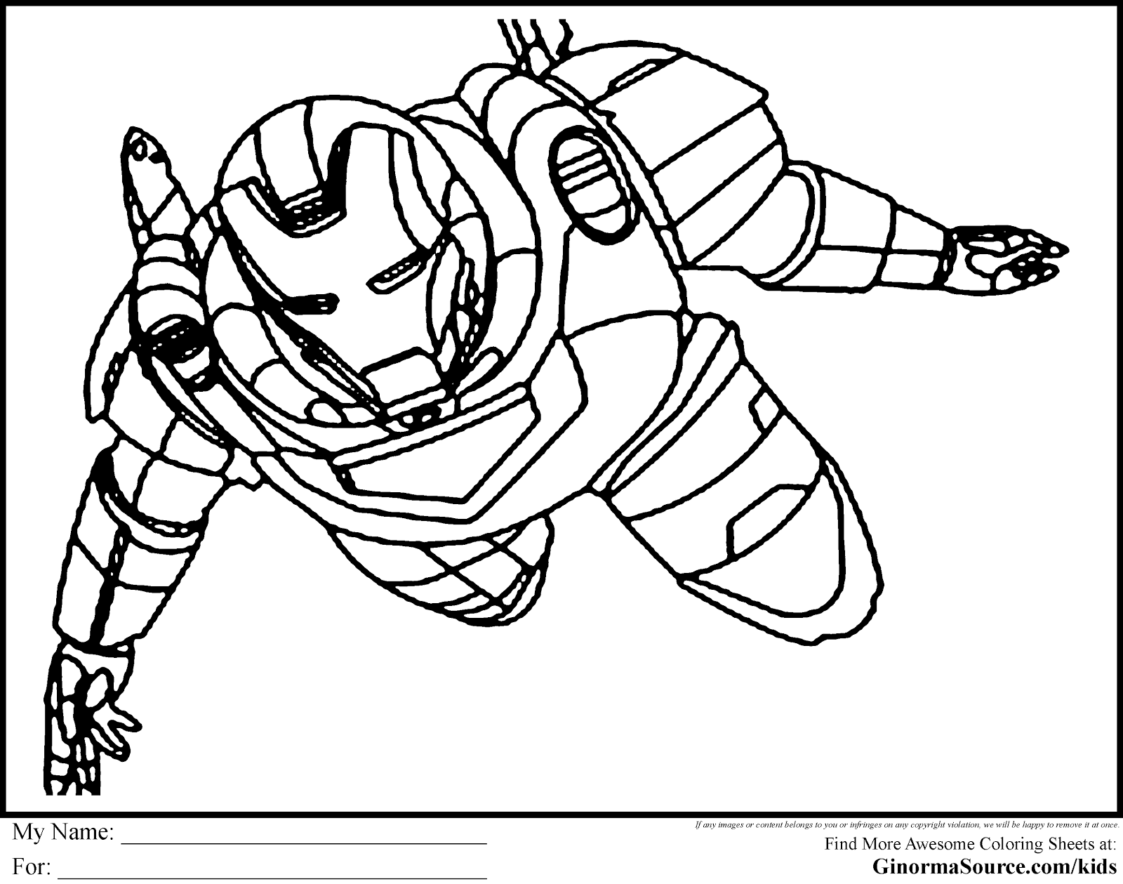 Superheroes coloring pages download