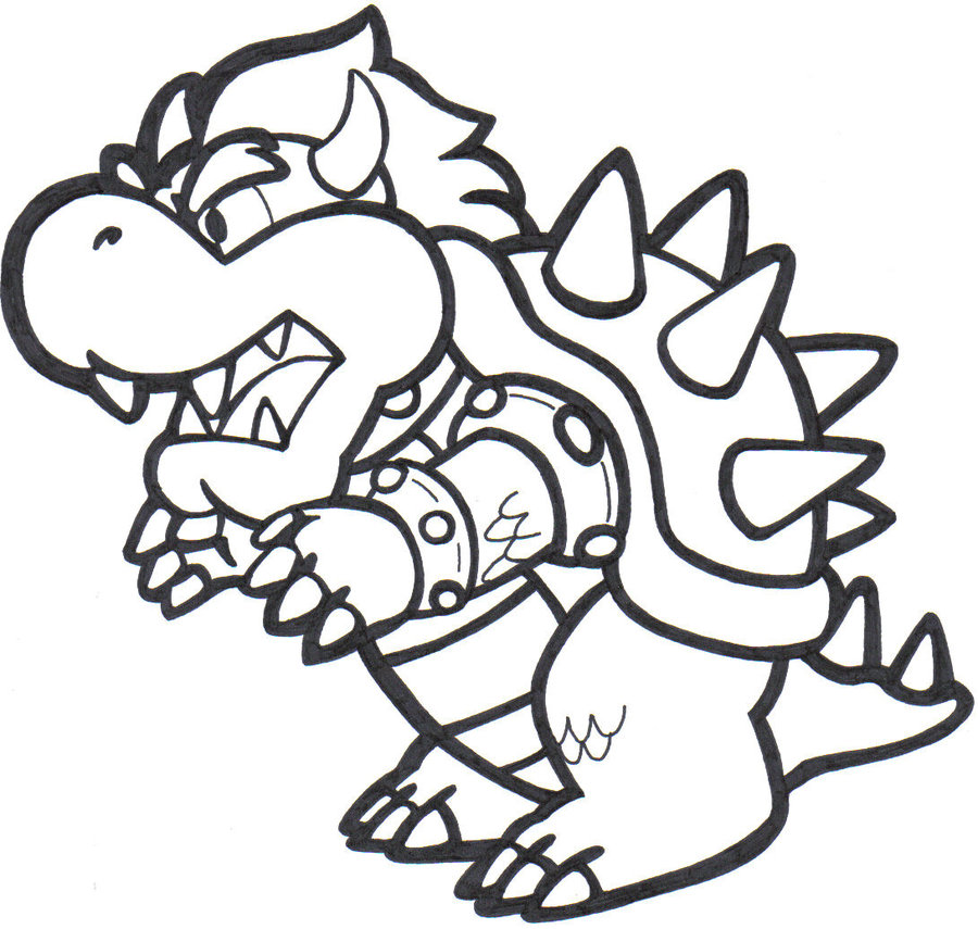 mario bowser coloring pages to print fun color page