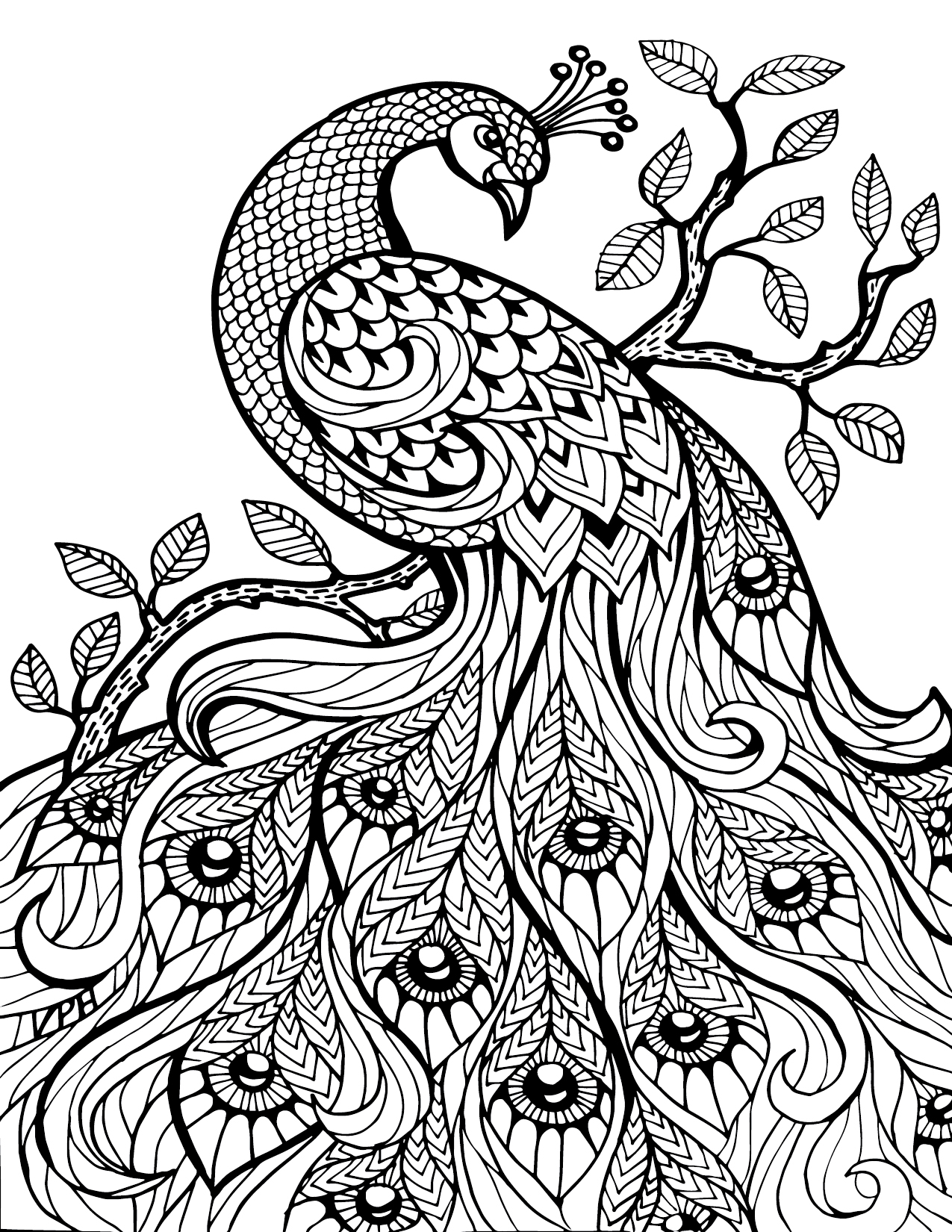 pattern animal coloring pages - Coloring Pages Download Free