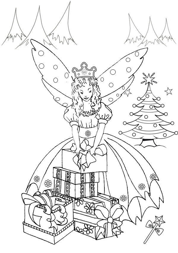 christmas fairy coloring pages - Dorit.mercatodos.co