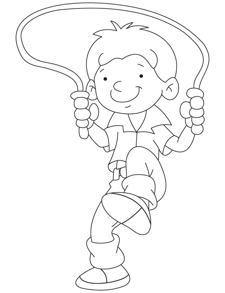jump coloring pages for kids | Jump rope coloring pages download and print for free