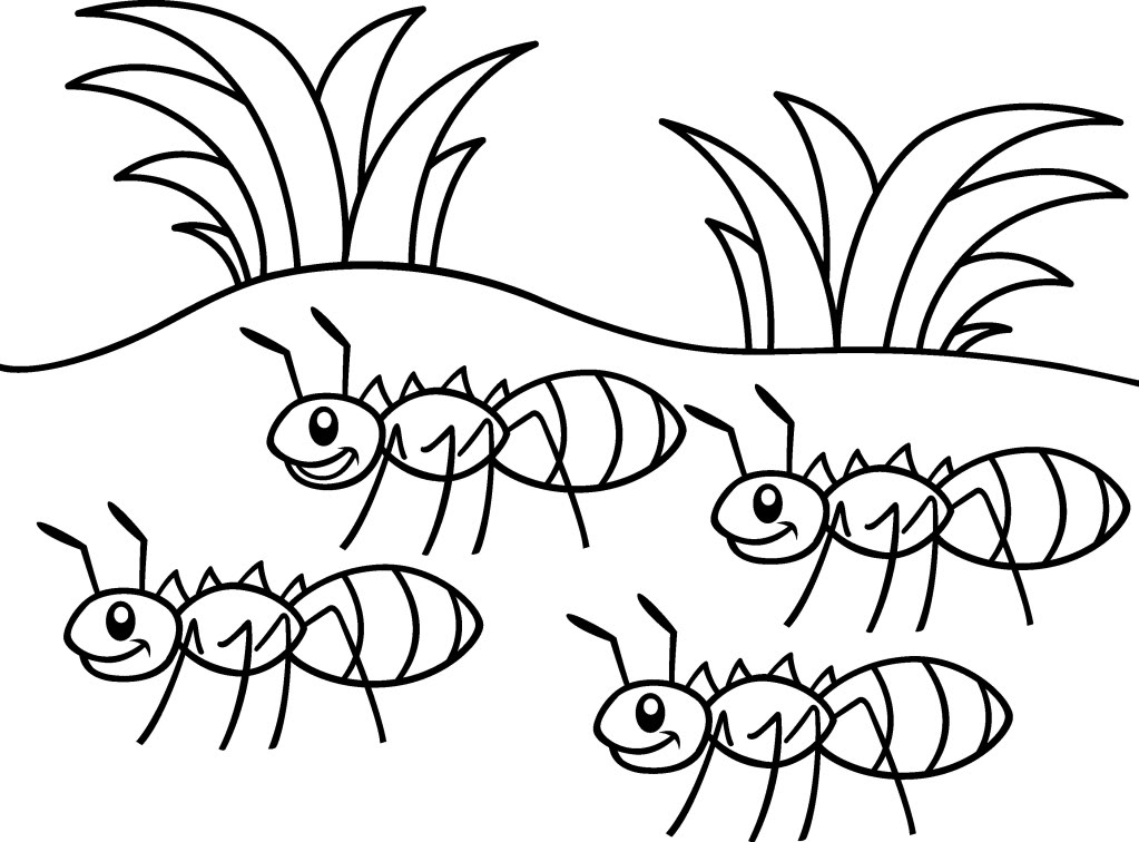 free ants marching coloring pages to print for kids download print and color - Ant Coloring Page