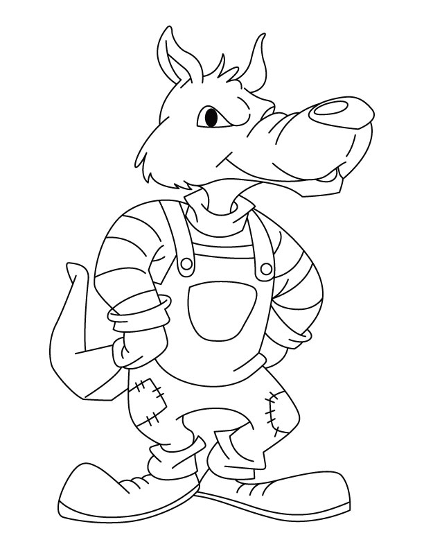 Bad wolf coloring pages download