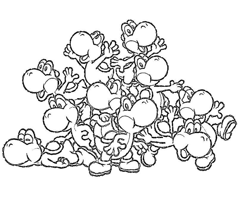 yoshi island coloring pages download and print for free - Yoshi Coloring Pages
