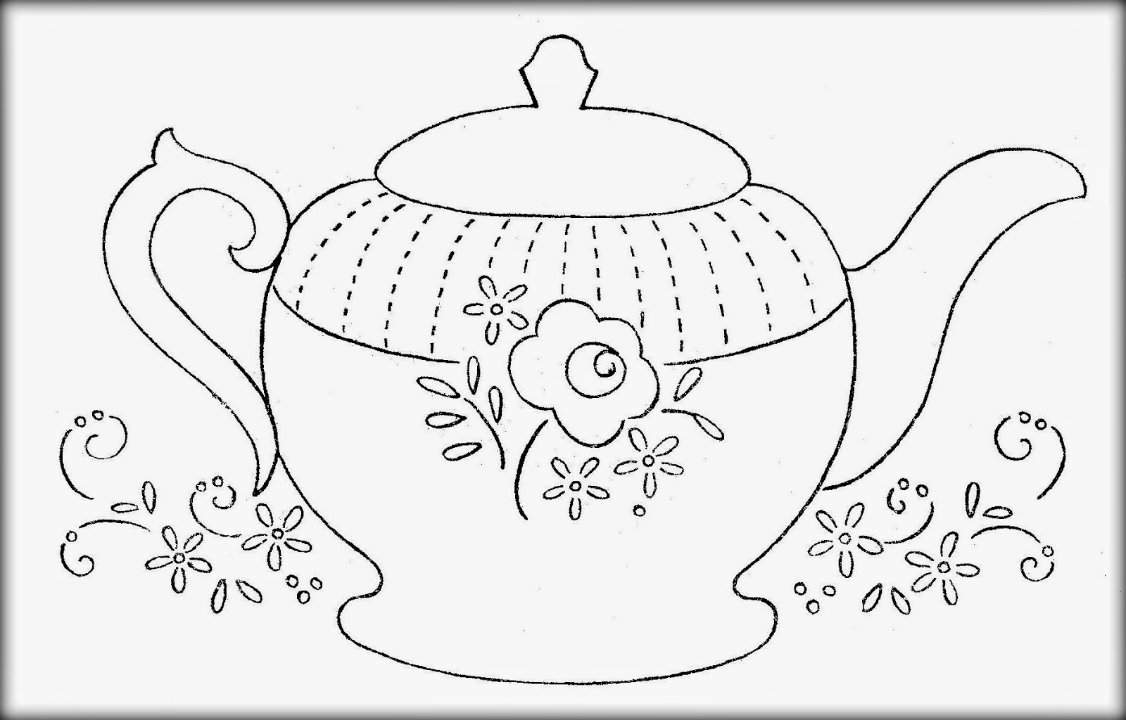 teapot printable coloring pages | Decorative teapot coloring pages download and print for free