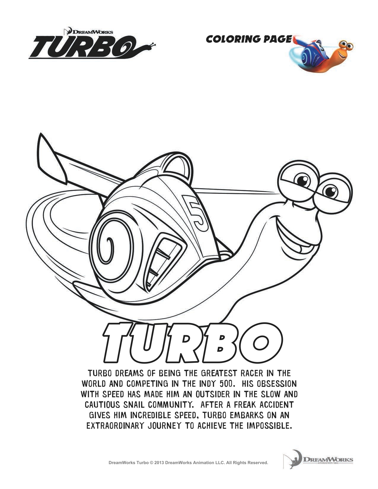 Coloring Pages To Print Turbo - Worksheet & Coloring Pages