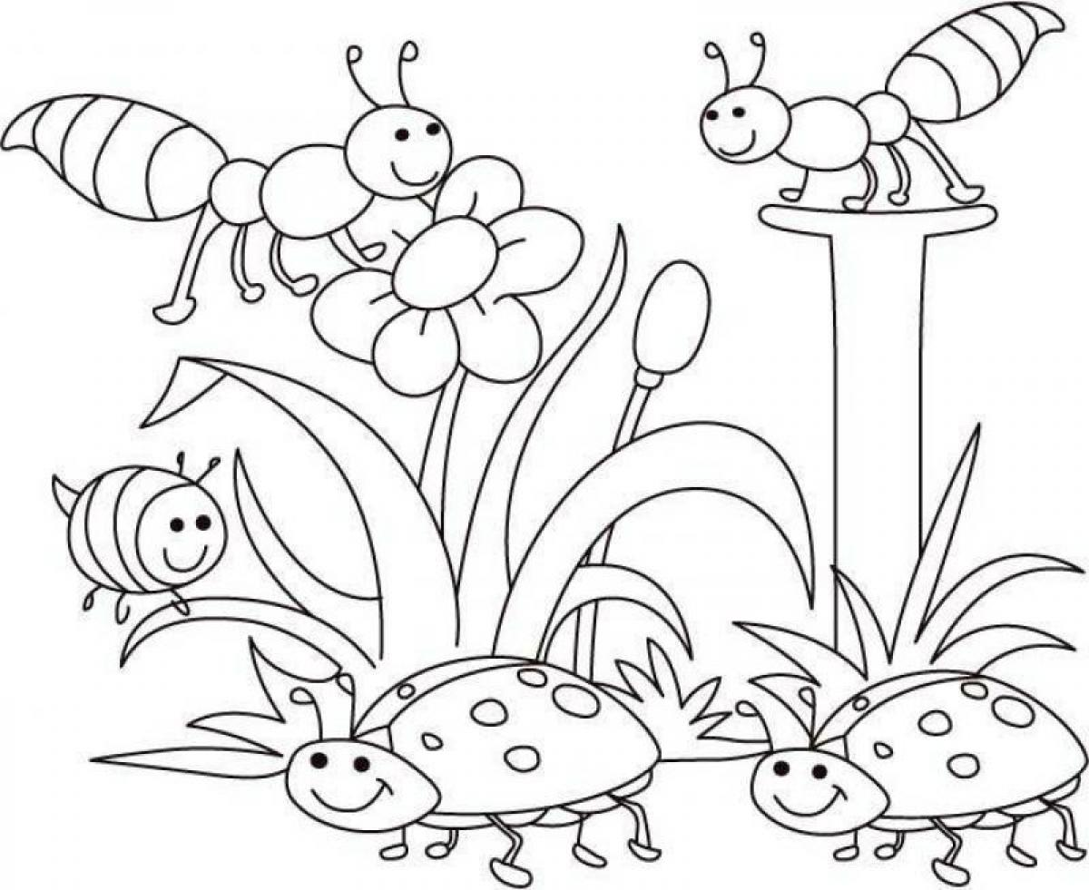 Spring coloring pages free printable - Spring Coloring Pages For Pre K Colouring Insects Spring Coloring Pages For Pre K Printable