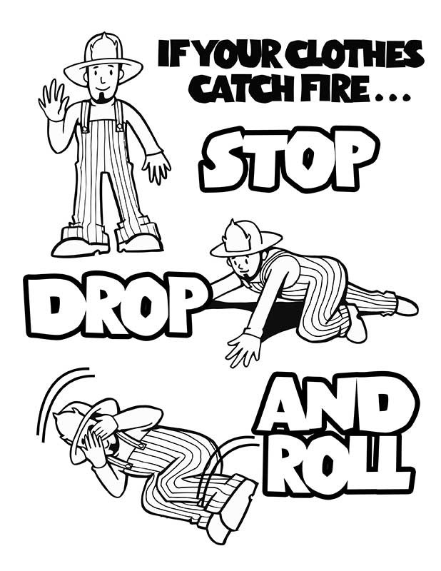 fire prevention coloring pages - Fire Coloring Pages