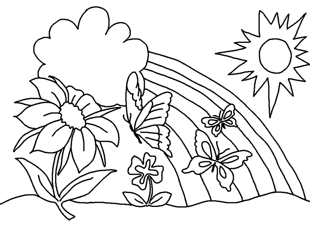 Spring coloring pages to download