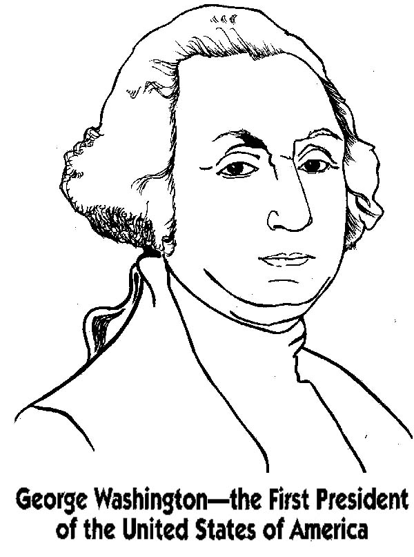 President George Washington Coloring Pages Download And George Washington Coloring Page