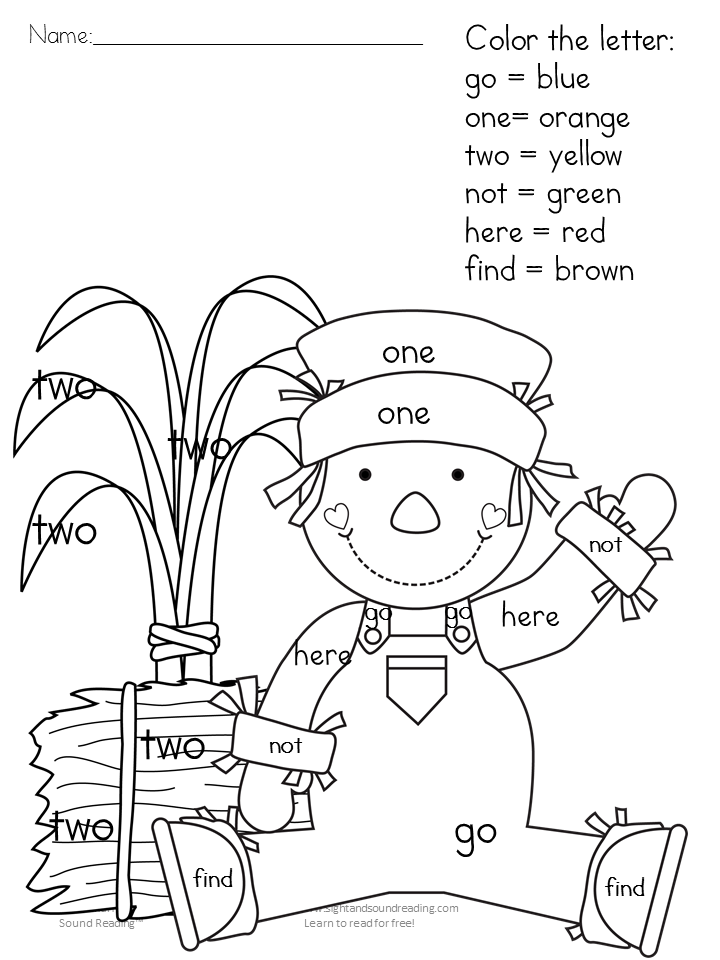 It is an image of Inventive Color by Sight Word Printable