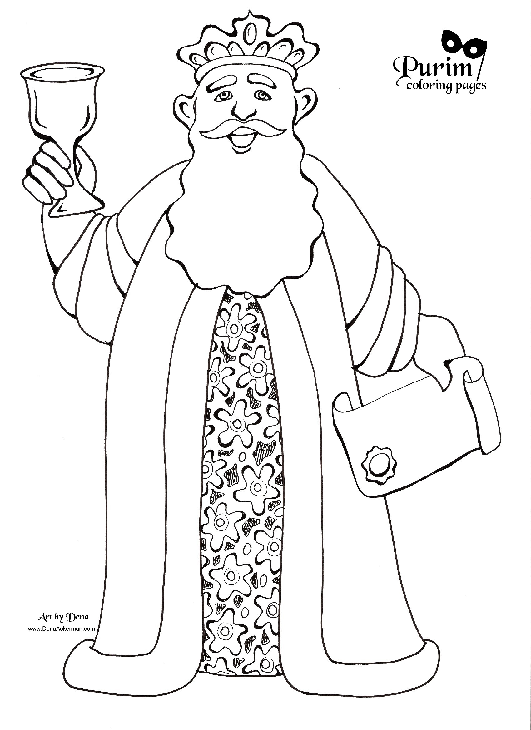 Purim coloring pages to download