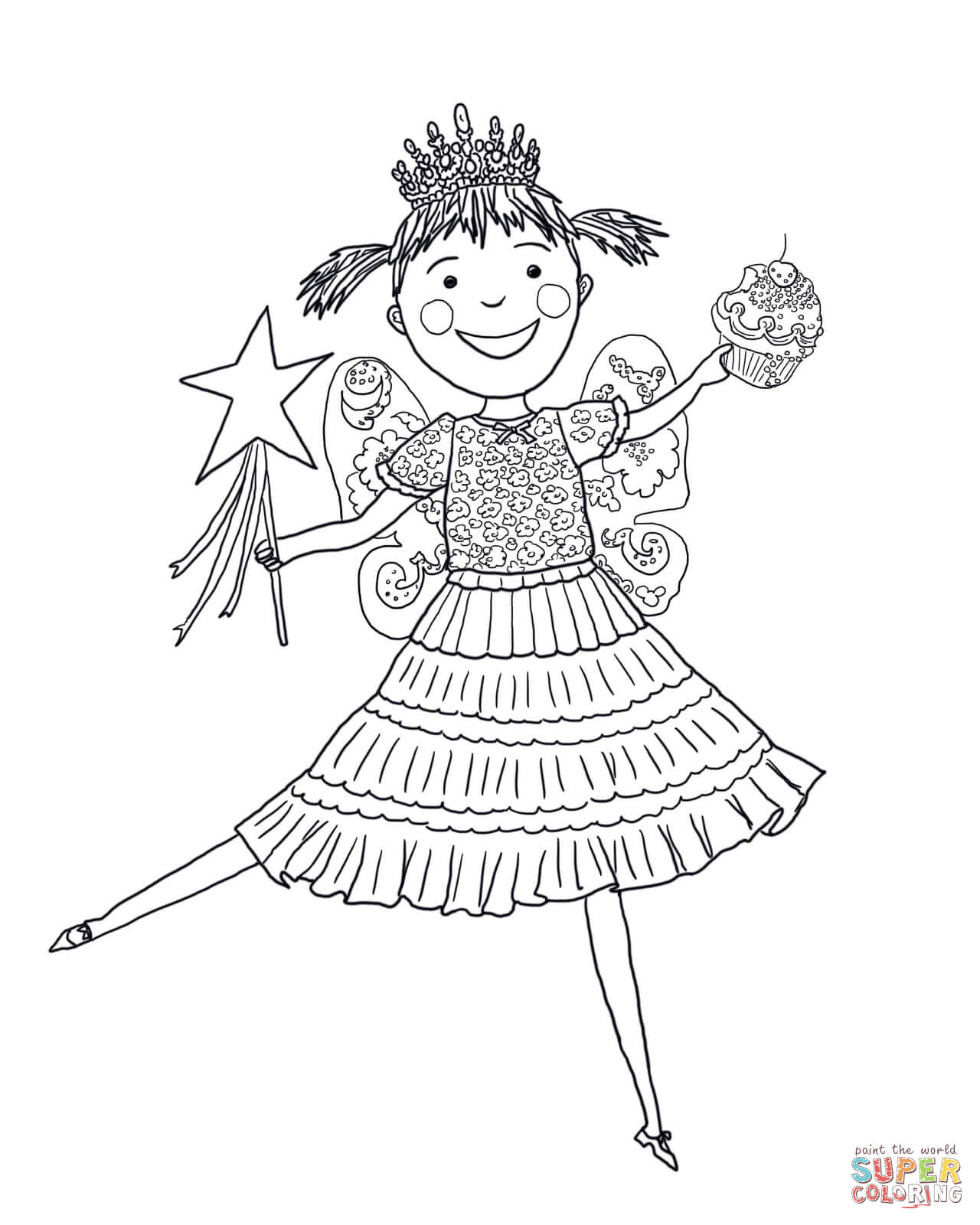 Fuchsia Coloring Page For Kids: Pinkalicious Coloring Pages To Download And Print For Free