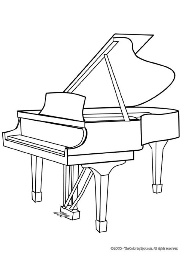 Piano coloring pages to download and print for free for Disegno del piano online