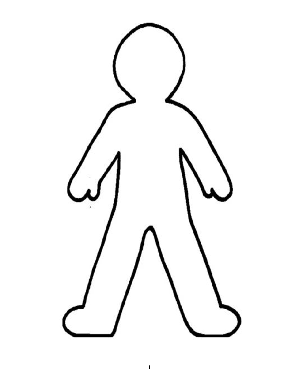 body outline coloring pages download and print for free