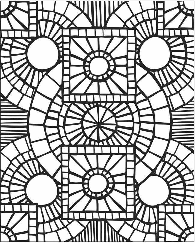 Mosaic Coloring Pages To Print Mosaic Coloring Pages To Download And Print For Free