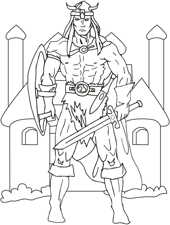 Printable Viking Colouring Sheets : Viking coloring pages to download and print for free