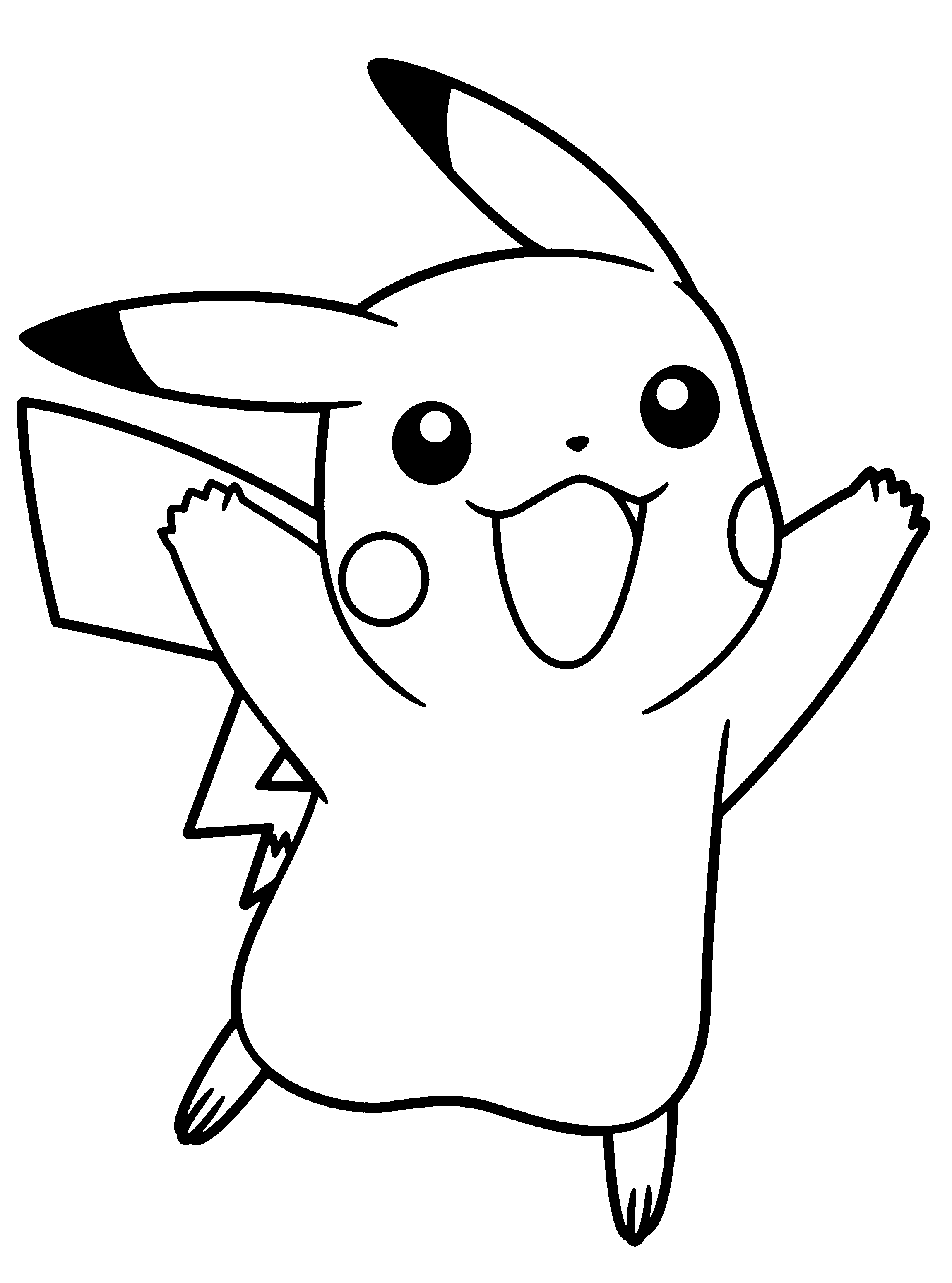 pikachu in action coloring pages - photo#13