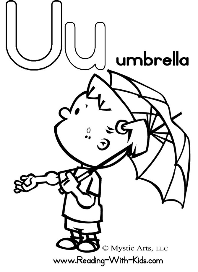 Download Print And Color Letter U Coloring Pages