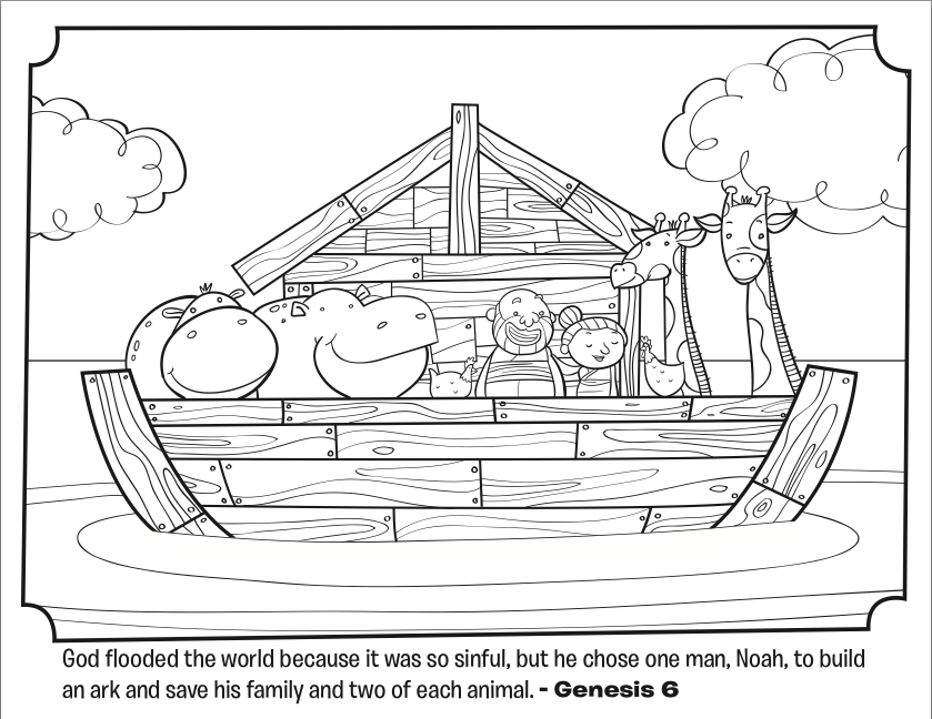 Noah ark coloring pages to download and print for free