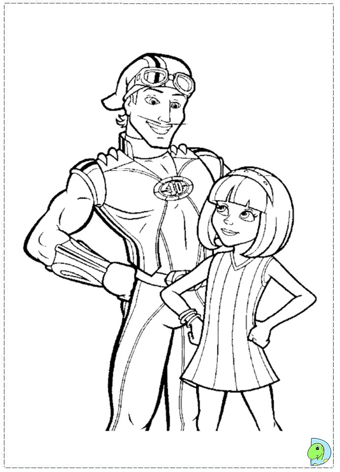 Lazy town coloring pages to download