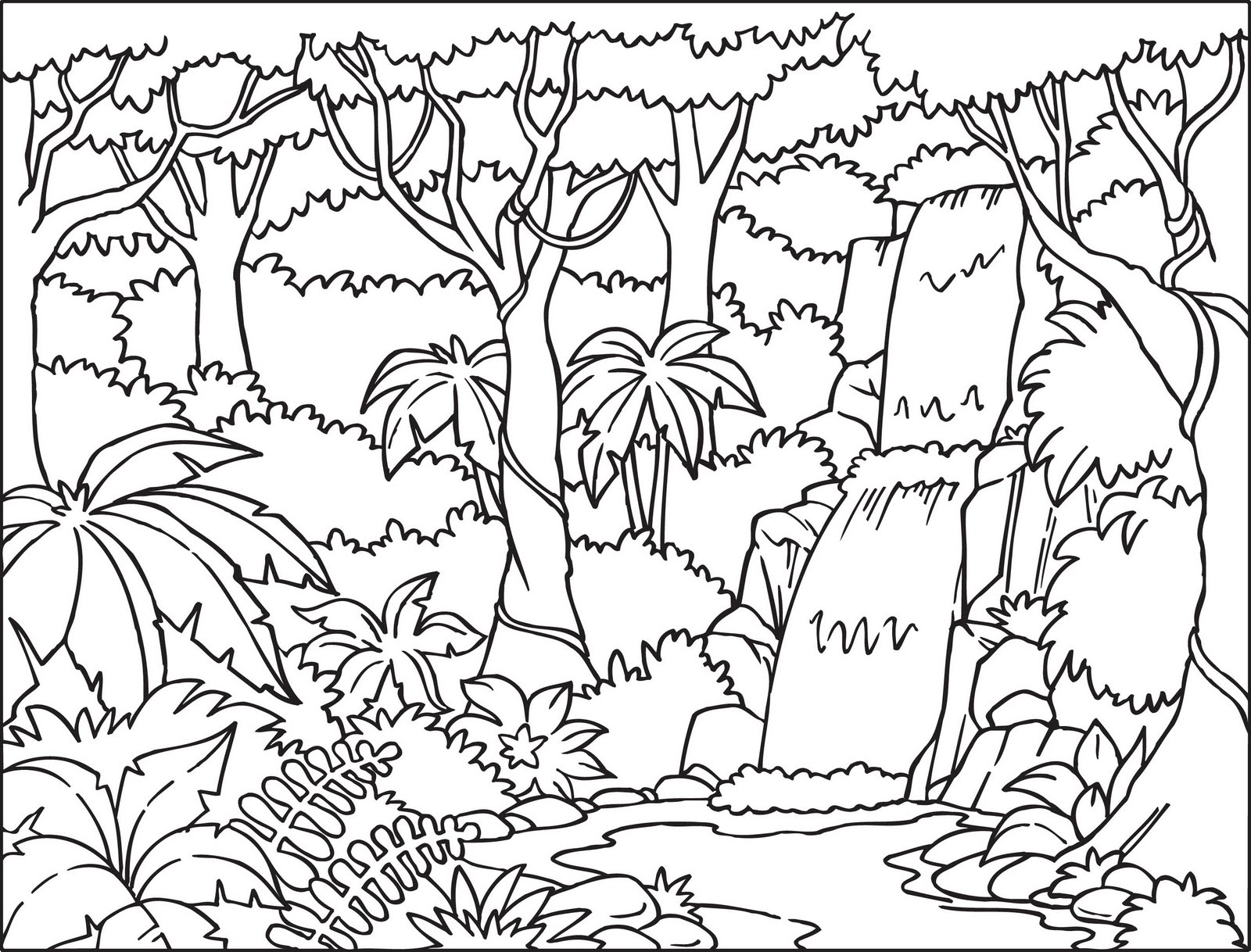 Coloring Pages Jungle Coloring Pages Printable jungle coloring pages printable eassume com eassume