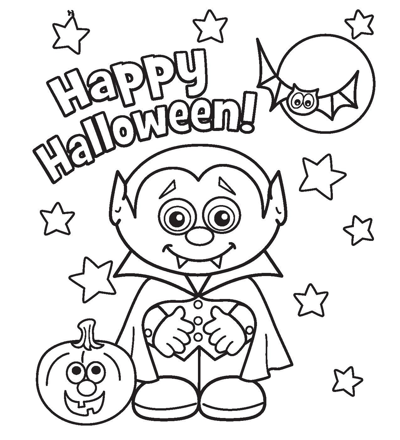 free coloring pages halloween - photo#5