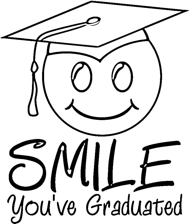 Graduation coloring pages to download
