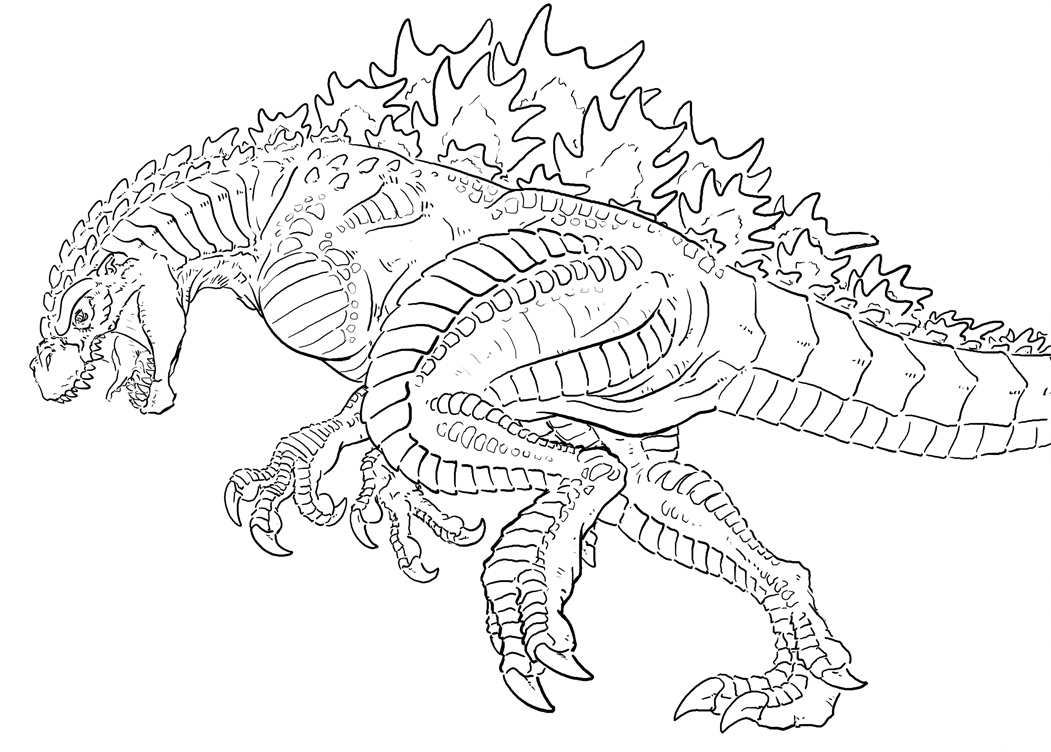 godzilla and coloring pages - photo#17