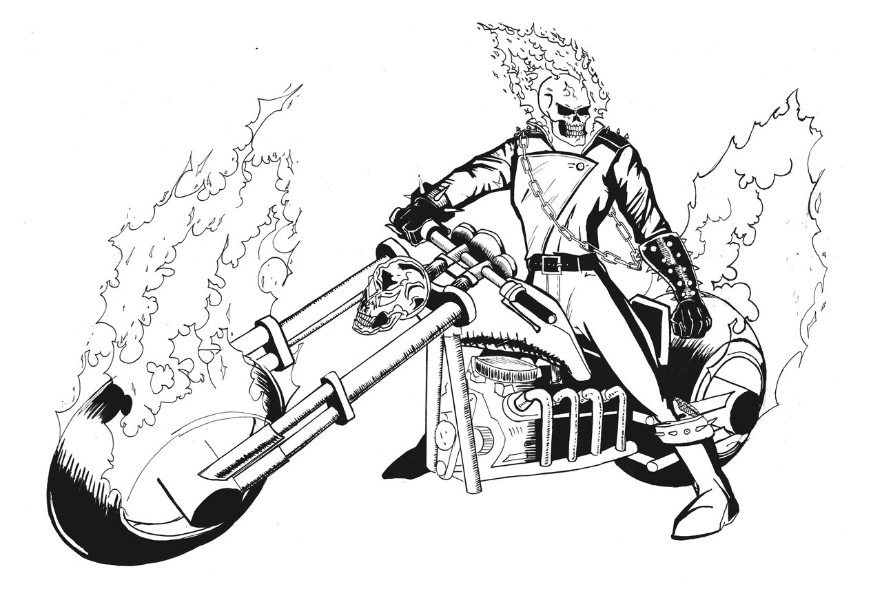Ghost Rider Coloring Pages To Download And Print For Free Ghost Rider Coloring Pages