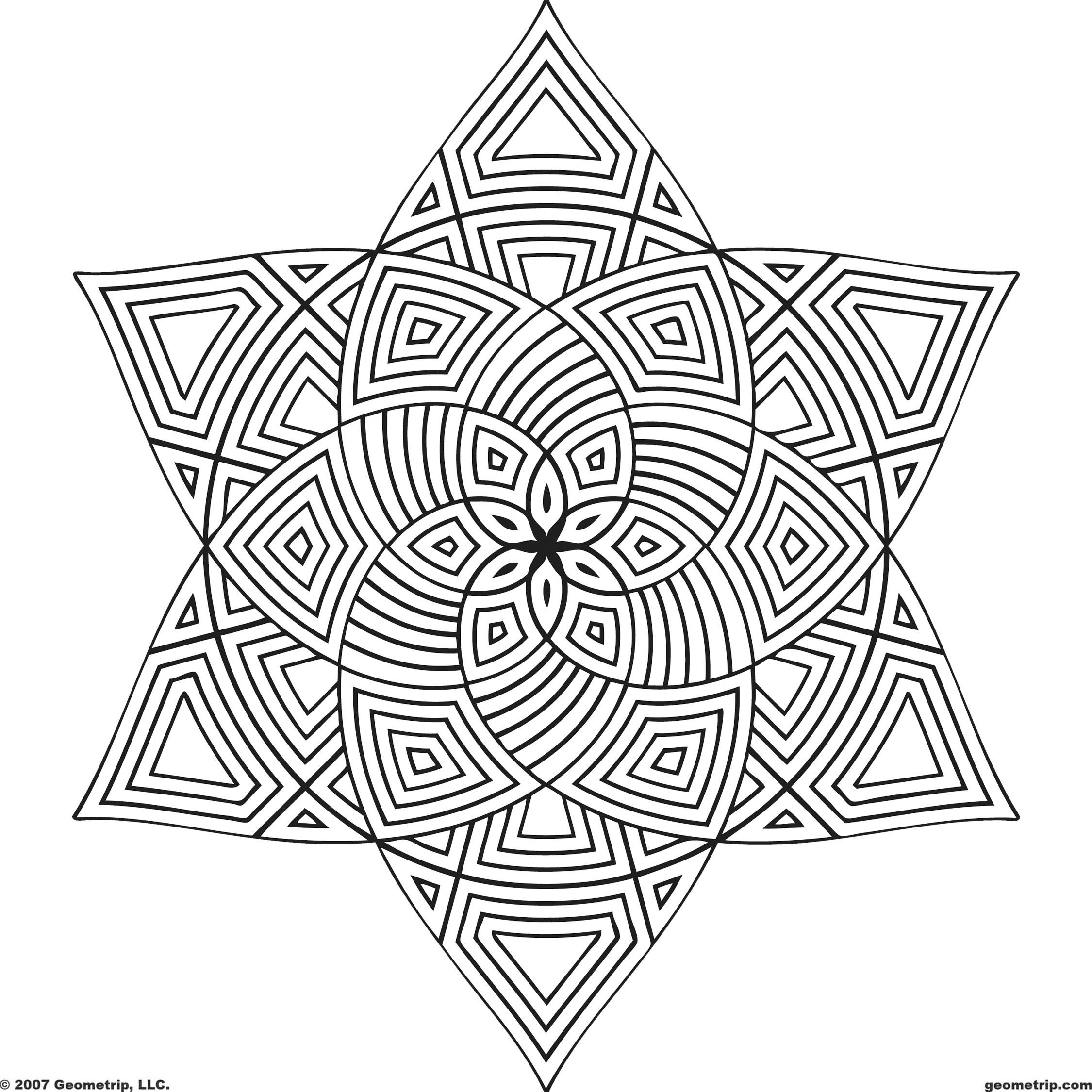 Geometric design coloring pages to download and print for free for Geometric coloring pages online